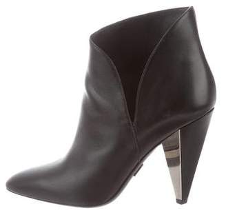 Michael Kors Leather Pointed-Toe Boots