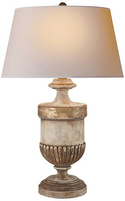 Visual Comfort & Co. Chunky Urn Table Lamp - Wood Gold Leaf