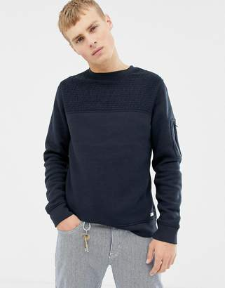 Brave Soul Crew Neck Textured Sweat