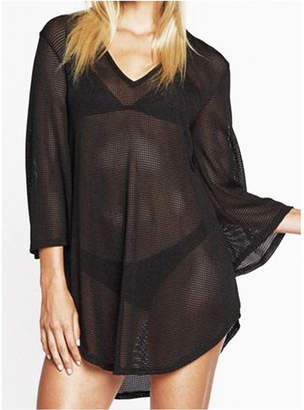 Jordan Taylor Gofret Bell Sleeve Tunic Cover up Women Swimsuit