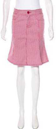 Marc by Marc Jacobs Striped Knee-Length Skirt