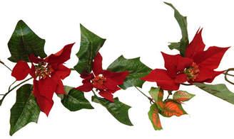 The Holiday Aisle Velvet Poinsettia Centerpiece
