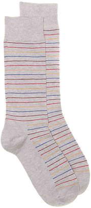 Happy Socks Thin Stripe Crew Socks - Men's