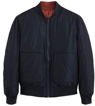 MANGO Reversible quilted bomber jacket