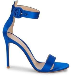 "Gianvito Rossi Stiletto-Heeled Ankle-Strap Sandals/4"""