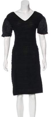 Fendi Rib Knit Midi Dress