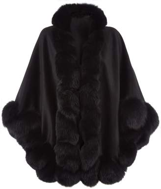 Harrods Fox Fur Spiral Trim Cape