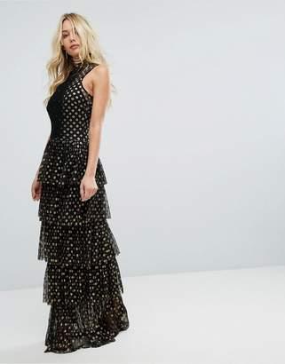 Body Frock Bodyfrock Tiered Polka Dot Maxi Dress