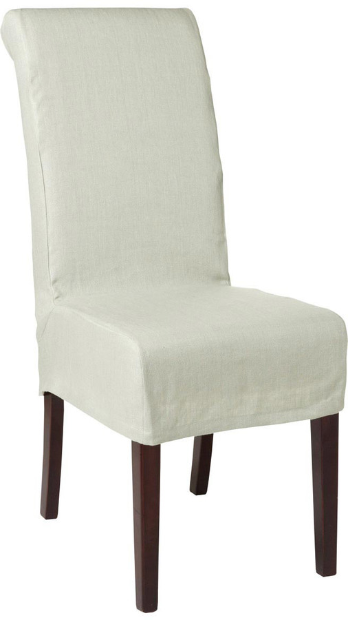 oka linen slip cover for echo dining chair home