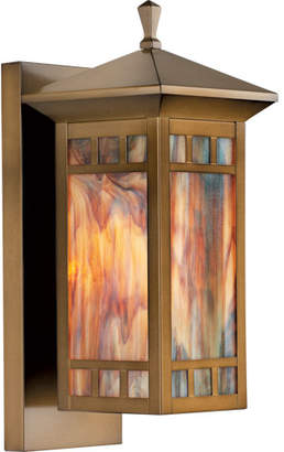 Rejuvenation Yukon Art-Glass Lantern Sconce