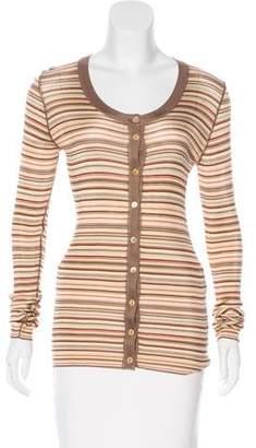 Dolce & Gabbana Striped Silk-Blend Cardigan