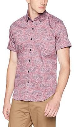 Robert Graham Men's ROBEERT SOLAK Short Sleeve Slim FIT Shirt