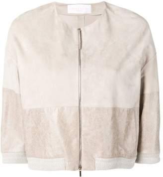 Fabiana Filippi cropped suede panel jacket