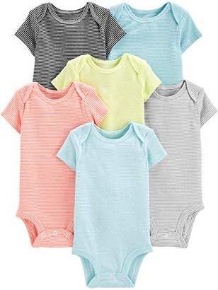 Carter's Simple Joys by Baby 6-Pack Neutral Short-Sleeve Bodysuit
