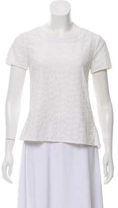Marc by Marc Jacobs Eyelet-Accented Short Sleeve Top