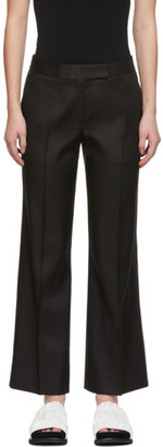 Marina Moscone Black Silk Cropped Trousers