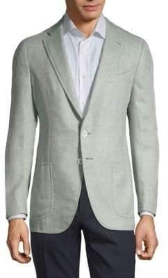 Isaia Textured Silk, Linen & Wool Sportcoat