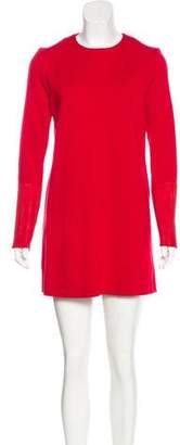 Joseph Leather Accented Mini Dress
