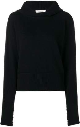 Schumacher Dorothee hooded zipper trimmed jumper