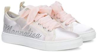 MonnaLisa metallic sneakers