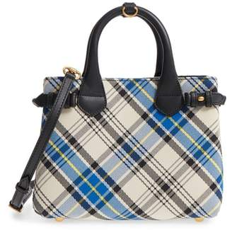 Burberry Small Banner Tartan Mix Tote
