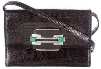 Ralph Lauren Lizard Flap Crossbody Bag