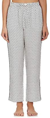 Sleepy Jones Women's Marina Silk Pajama Pants - Cream Dot