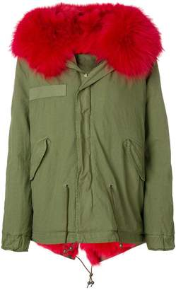 Mr & Mrs Italy fox fur hooded short coat
