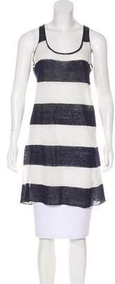 Nili Lotan Striped Linen Top