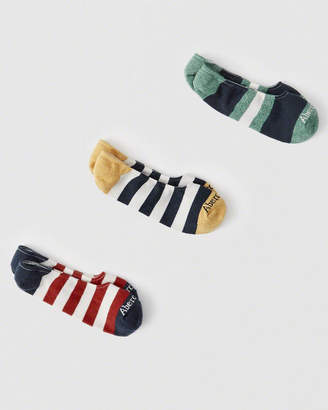 Abercrombie & Fitch 3-Pack Pattern No-Show Socks