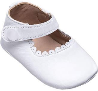 Elephantito Scalloped Leather Mary Jane, Baby