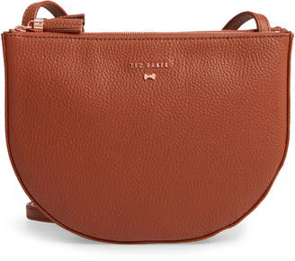 056f1934b Ted Baker Suzzane Semi Circle Double Zip Leather Crossbody Bag