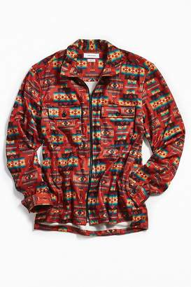 Urban Outfitters Long Sleeve Southwestern Flannel Zip Shirt