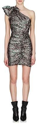 Isabel Marant Women's Synee Metallic Jacquard Dress - Green