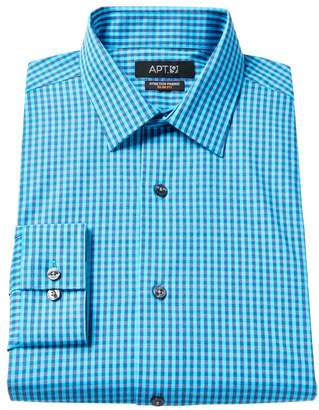 Apt. 9 Men's Slim-Fit Plaid Stretch Dress Shirt