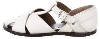 Marni Leather T-Strap Sandals