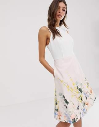 Ted Baker Kalla bodice dress in elegance print