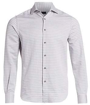 Saks Fifth Avenue Thin Stripe Woven Shirt