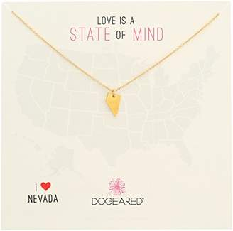 Dogeared State of Mind North Carolina -Plated Sterling Silver Chain Necklace