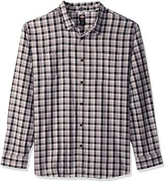 Dickies Men's Long Sleeve Relaxed Yarn dye Plaid Shirt