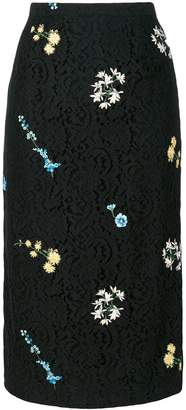 No.21 floral embroidery lace skirt