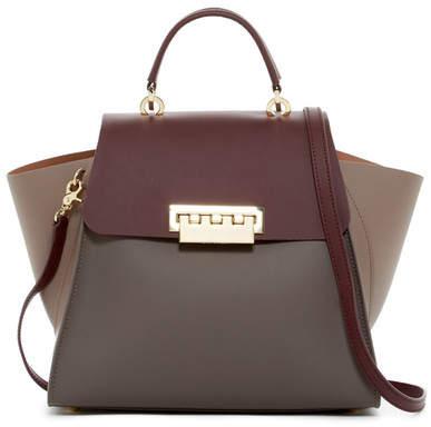 ZAC Zac Posen Eartha Iconic Colorblocked Top Handle Leather Satchel Bag