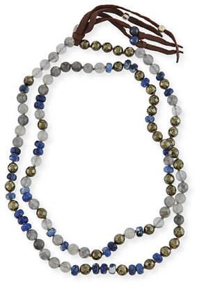 "Chan Luu Beaded Tassel Necklace, 38"""