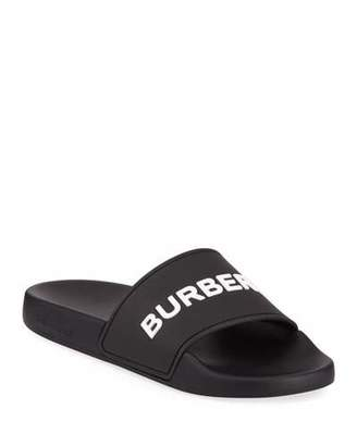 Burberry Furley Logo Pool Slide Sandals