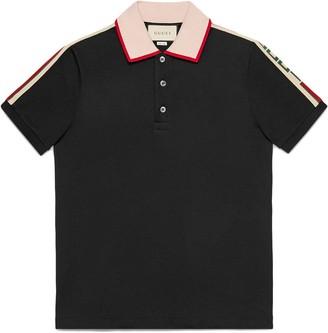 Gucci Black Stripe polo shirt