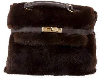 Adrienne Landau Mink Top Handle Satchel