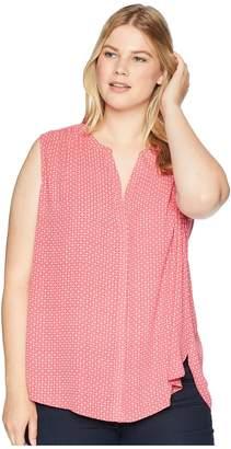 NYDJ Plus Size Plus Size Sleeveless Pintuck Blouse Women's Blouse