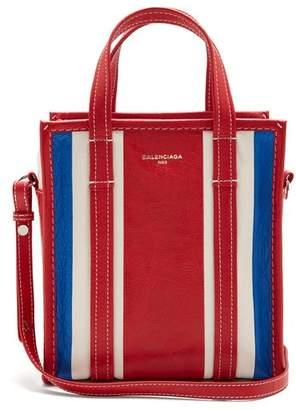 Balenciaga Bazar Shopper Xs - Womens - Red Stripe