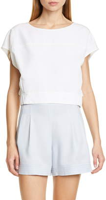 Club Monaco Anachika Short Sleeve Boxy Top