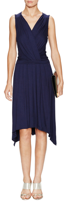 Keegan Wrapped Asymmetrical Dress $228 thestylecure.com